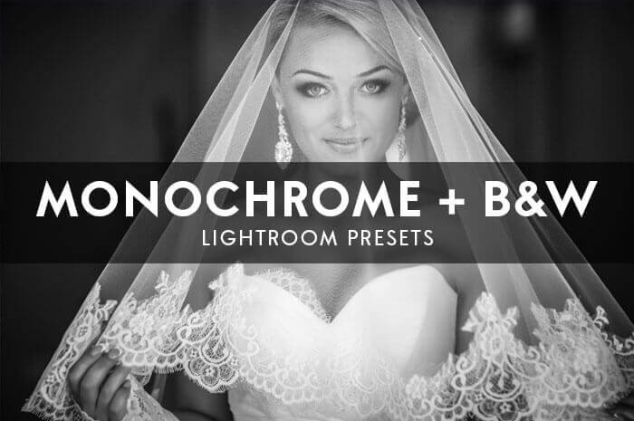 Monochrome + Black and White Lightroom Presets